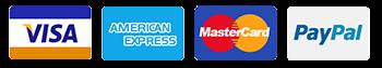 Aceptamos las principales tarjetas de crédito y PayPal