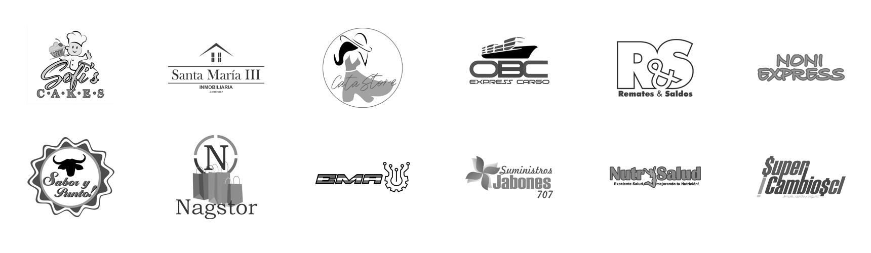 Sofi's Cakes, Inmobiliaria Santa María III, Cata Store Italy, OBC Express Cargo, Remates & Saldos, Noni Express, Sabor y Punto!, Nagstor, EMA, Suministros Jabones 707 C.A., NutrySalud, SuperCambios CL